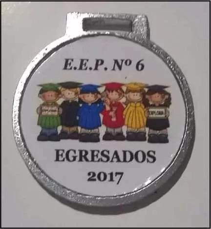 medalla egresado 2017 jardin escolar 35 mm m2