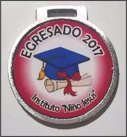 medalla egresado 2017 jardin escolar 35 mm m6