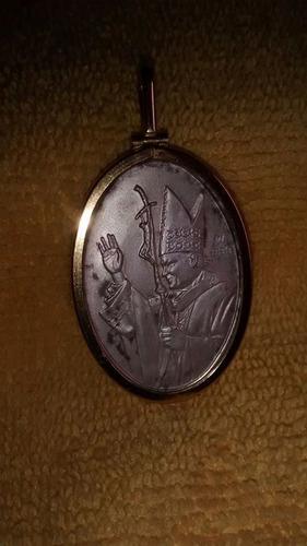 medalla en plata y vicel chapado en oro