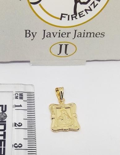 medalla escapulario en oro 18k ley 750 despacho 3 dias