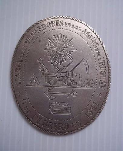 medalla escudo batalla de juncal facsimile 9 de febrero 1827