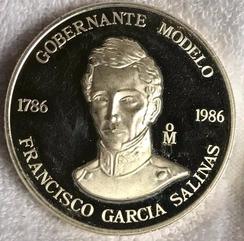 medalla francisco gracia  salinas gobernador modelo 1 onz pl
