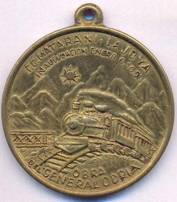 medalla general odria 1951 matarani - la joya - ferrocarril
