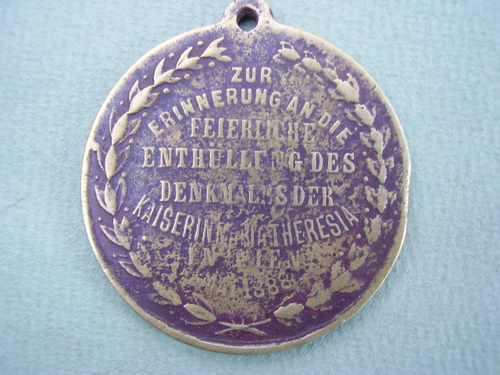 medalla homenaje a la hija del kaiser 1888