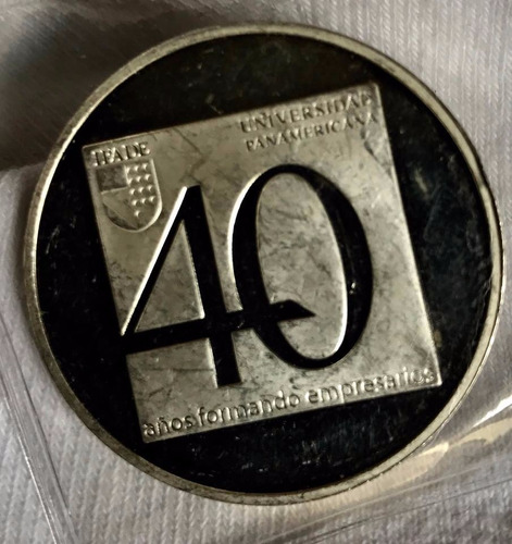 medalla i p a d e   40 anv  plata 1 onz 39 mm envio grat