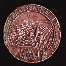 medalla iansa - industria azucarera nacional s.a - 1958