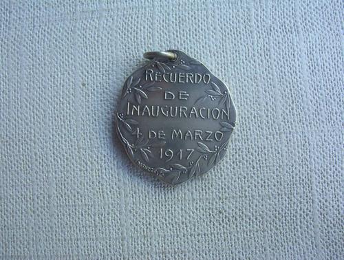 medalla inaguración templo antigua firmada
