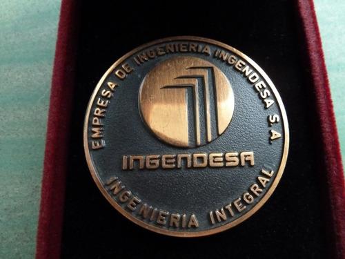 medalla ingendesa su primer aniversario sin estuche - vp