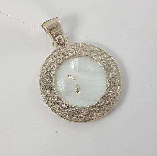 medalla inicial nacar plata 925