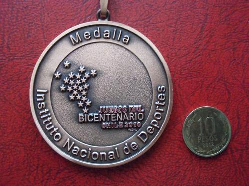 medalla juegos del bicentenario 2010