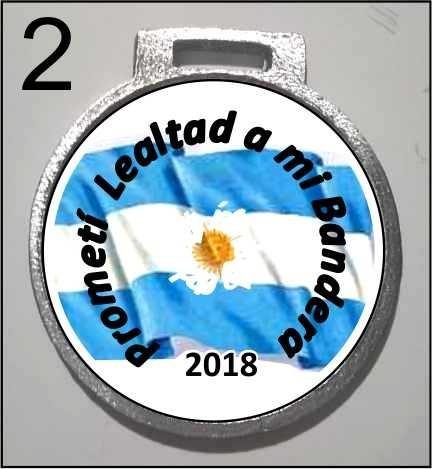 medalla jura de la bandera  jardin escolar 35 mm 3