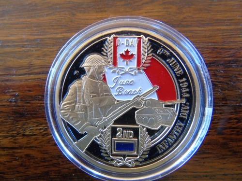 medalla moneda conmemorativa normandía juno beach día d ww2