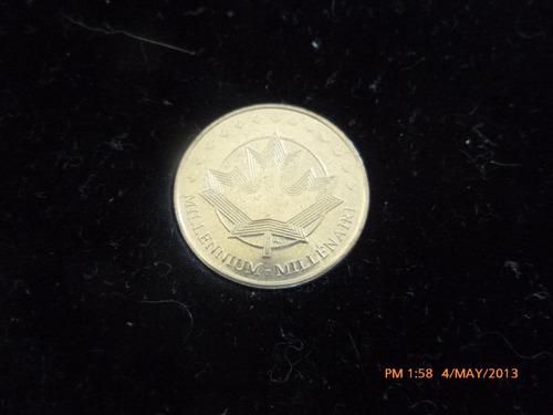 medalla moneda millennium 2000 canada