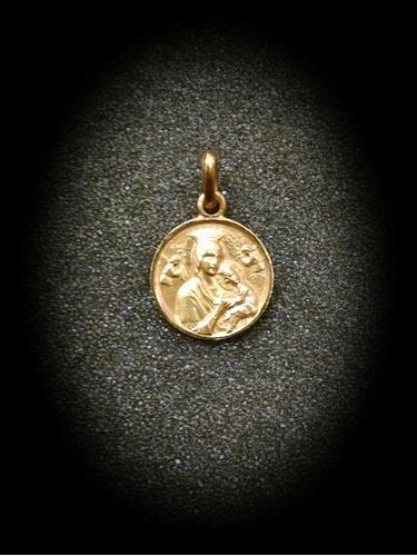 medalla oro 10k virgen del perpetuo socorro #800 bautizó