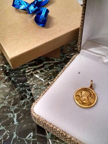 medalla oro 10k virgen maría o madona # 233/1