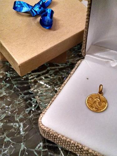 medalla oro 14k inmaculada concepción #800 bautizó comunión