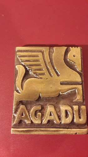 medalla placa agadu bronce, 57 x 75 mm, mt129