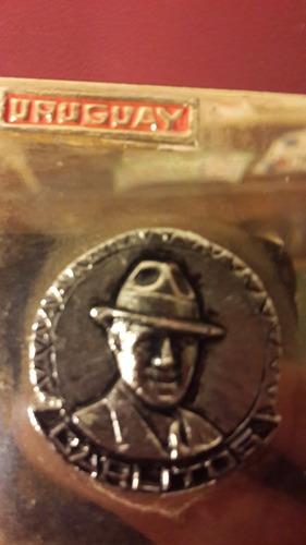 medalla placa gardel uruguay, fotos, 47 x 60 mm, mt146