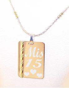 7c4fcee3de07 Medalla Plata 925 Oro Personalizada Frase 15x21 Cadena Mujer