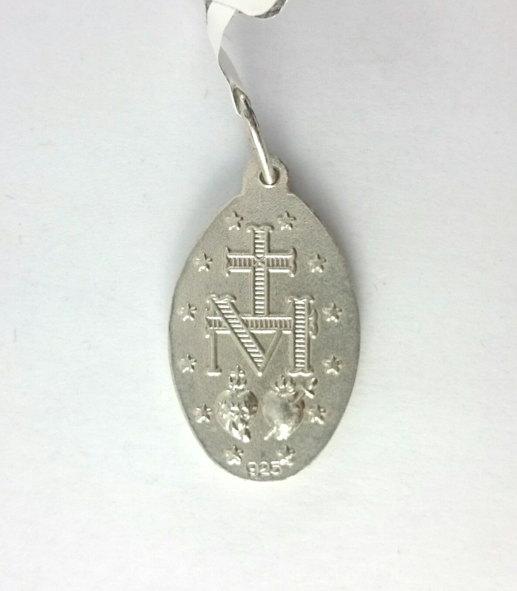 910499594f26 medalla plata 925 y oro virgen milagrosa maciza garantia jr. Cargando zoom.