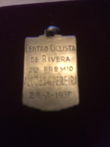 medalla plata ciclismo año 1937