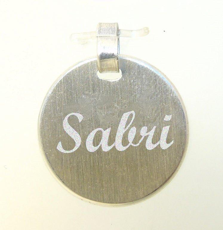 811de15a6f02 Medalla Plata Iniciales Nombre Frases Redonda Grabado Laser ...