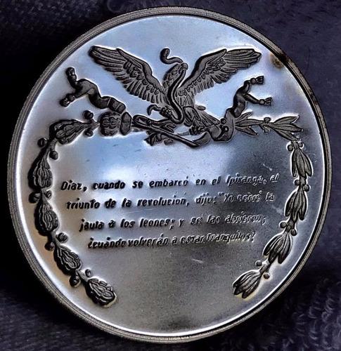 medalla porfirio diaz natalicio plata  excelente envio grr