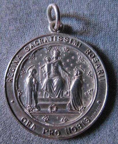 medalla religiosa virgen de pompeya