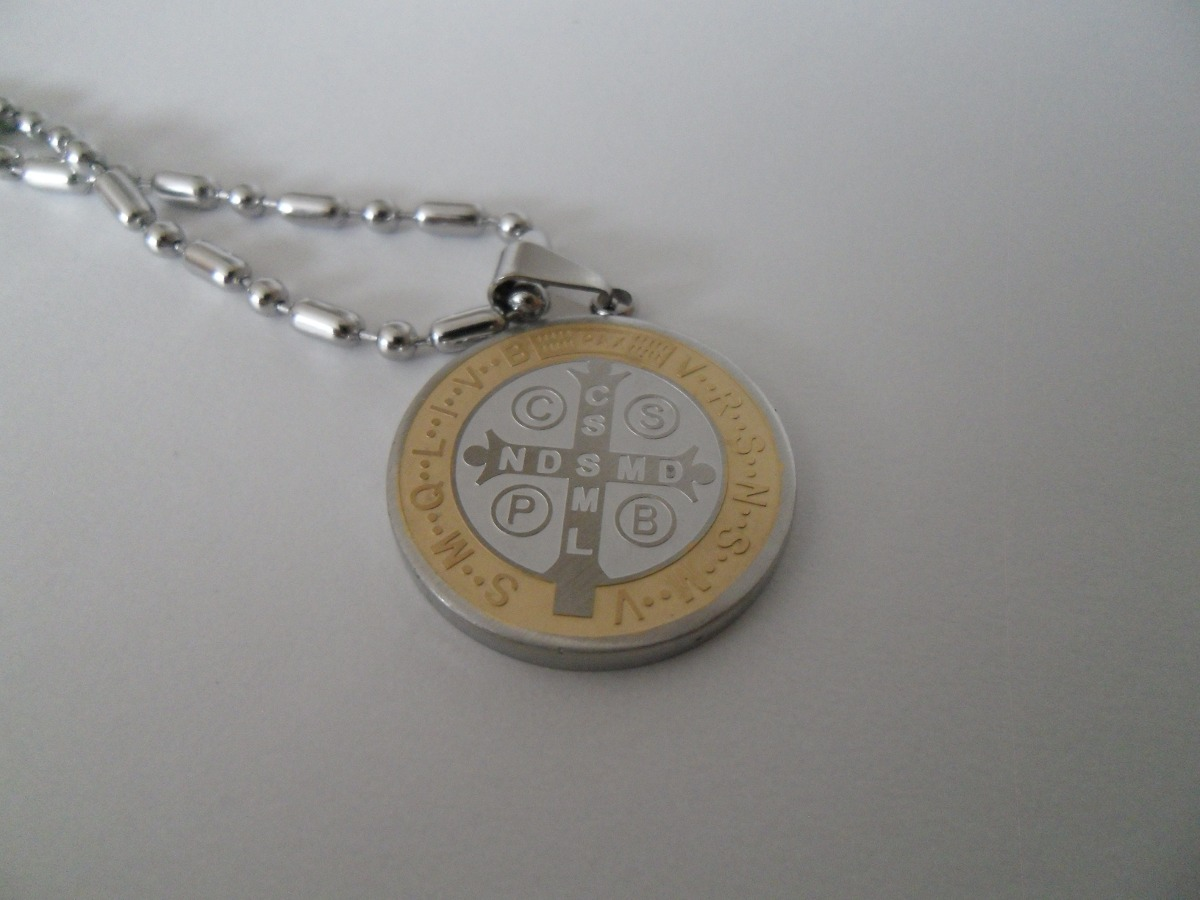 Medalla san benito 3 modelos acero inoxidable con collar en mercado libre - Lasan guadalajara ...