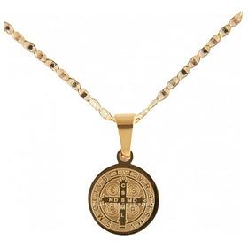 Medalla San Benito Bautizo Bebé Acero - Ropones Celia