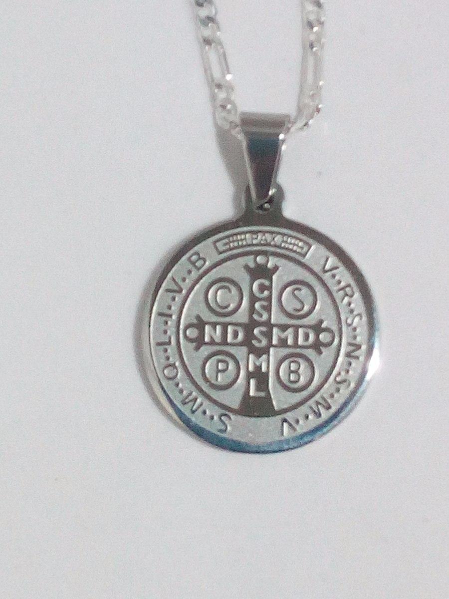 16acc9a5993 Medalla San Benito Con Cadena