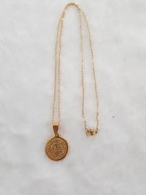 c2baf384039d Medalla San Benito Con Cadena En Acero Quirúrgico Dorado