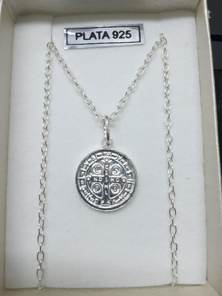 0dab2d2bdab medalla san benito de plata con cadena de plata - plata 925. Cargando zoom.