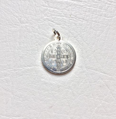 medalla san benito oro y plata 925