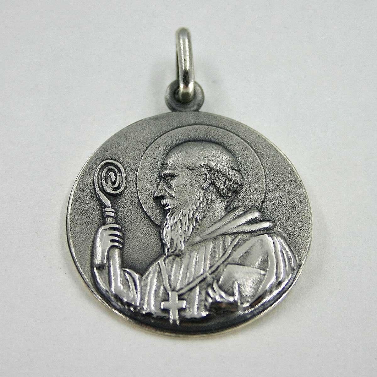 c70d684d956 medalla san benito plata 925 18mm protector de nuestro hogar. Cargando zoom.