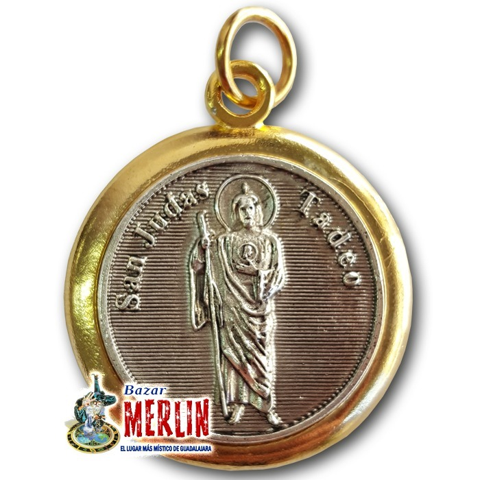 Medalla San Judas Tadeo 7 Metales Chapa De Oro 38000 En