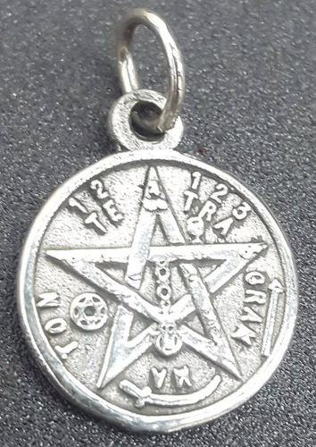 medalla tetragramaton proteccion en plata 1,5 cm 2 gr art 08
