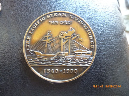medalla the pacific steam navigation c.o. 1840-1990 (ch190