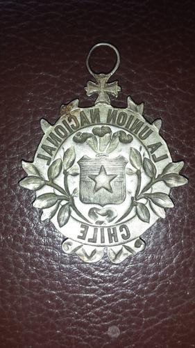 medalla union nacional chile