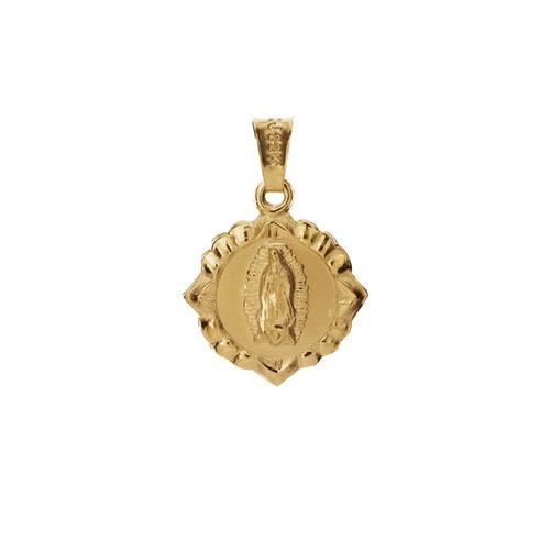 medalla virgen de guadalupe en  chapa de oro 22k