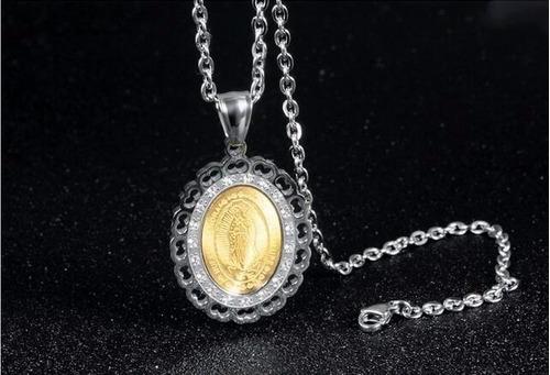 medalla virgen guadalupe regalo mamá baño oro swarovski ele