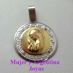 c9fde35f0f59 Medalla Virgen Niña Plata Y Oro en Mercado Libre Argentina
