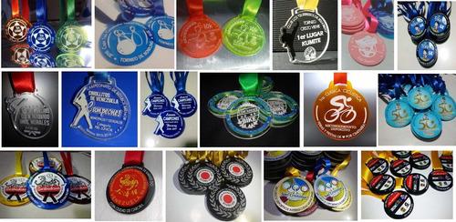 medallas 10mil bs en acrilico 3mm 5cm premiacion deportivas