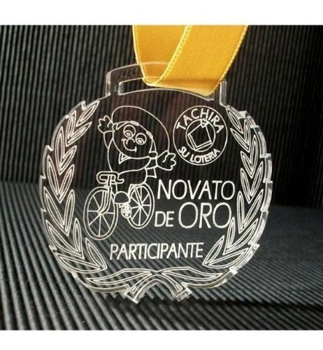medallas 5mm acrilico grabado en laser trofeos vinilo