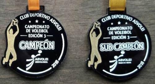 medallas acrilico 3mm pintadas. trofeos placas