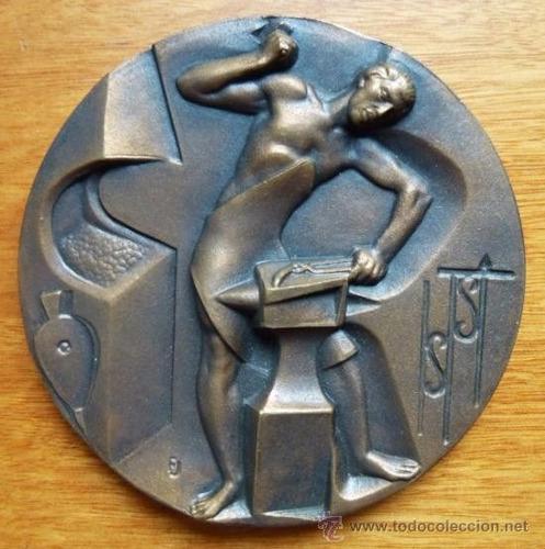 medallas acuñadas cobre bronce etc