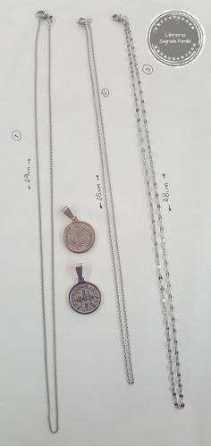 medallas de san benito con cadena en acero (2unidades)