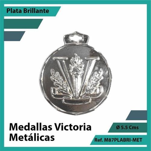 medallas deportivas de victoria metalica plata m87plabri
