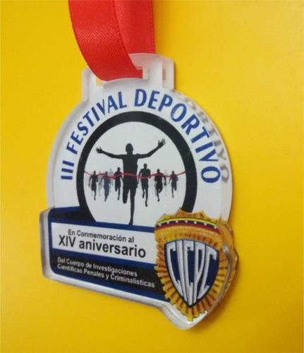 medallas en acrilico 3mm 5cm trofeos premiacion deportivas