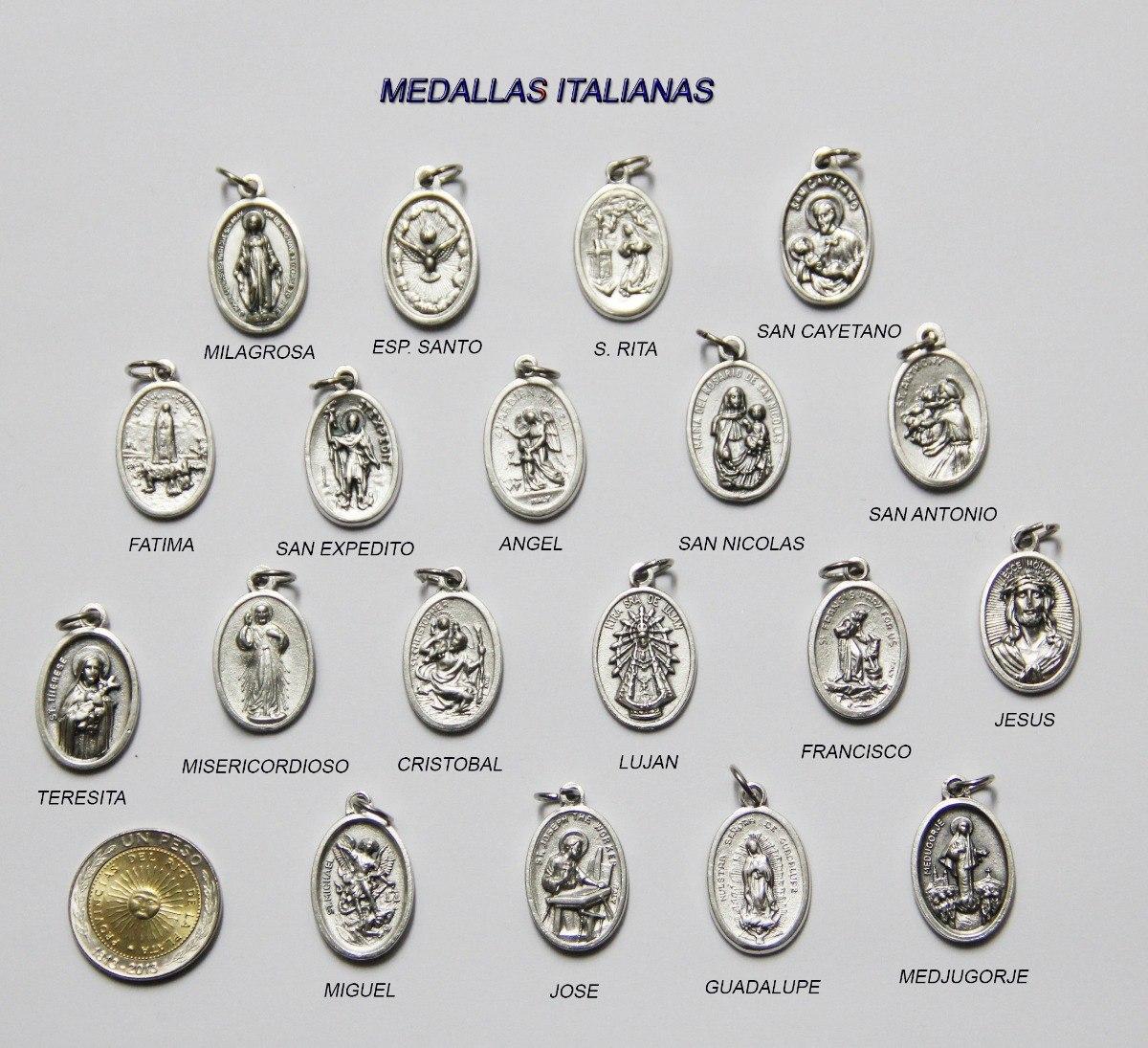 4844da6b164f Medallas Italianas Para Pulsera Y Collar X 50 Unid. Insumos
